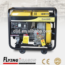 Fácil de transportar pequeña energía aire refrigerado generador de energía eléctrica 2 kw precio para el hogar