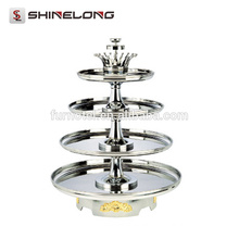 2017 GZ Luxury Hotel Equipment Large Chocolate Fountain Stand