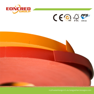 Bandas de borde de PVC de grano sólido y madera profesional en China