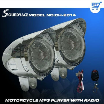 2011 latest design motorcycle mp3 speaker with FM/electroplating material/Large Diamond