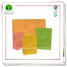 Colorful Kraft Paper Shopping Bags