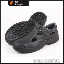 Genuine Leather Summer Safety Sandal with Steel Toe (SN5196)