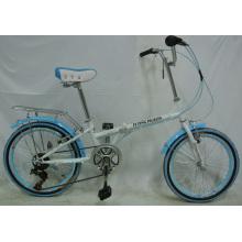 """Económico 7-Velocidad 20 """"Bicicleta Plegable de Ciudad de Acero (FP-KDB-ST027)"""
