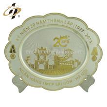 Placa de plata decorativa del recuerdo del regalo de los regalos del regreso de la placa de plata del diseño creativo de encargo para la venta