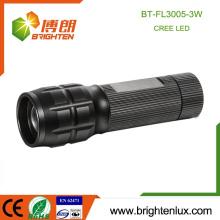 Ausgezeichnete Großhandel 3 Watt Aluminiumlegierung 3 * aaa Batterie zoom die beste Taschenlampe in der Welt