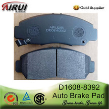 Top quality brake pad of D1608-8392 for Honda