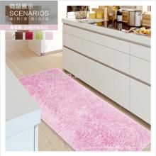 corredor de cozinha rosa tapete de seda lavável de microfibra