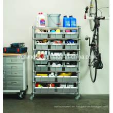 DIY Heavy Duty cromo garaje de metal garaje almacenamiento de alambre rack