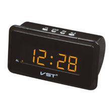 LED Clock with Orange LED, Made of Original ABS Plastic, Measures 154 x 62 x 97mm