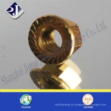 DIN6923 Tuerca de brida con zinc amarillo
