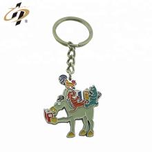 Wholesale die cut metal enamel animal custom silver key holder with keyring