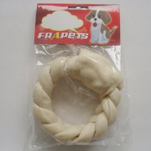 "Dog Chew of 5""-6"" White Puffy Braided Ring for Dog"