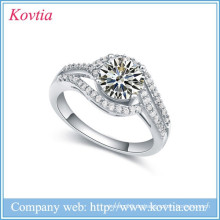 Ring Design Silikon Hochzeit Ring Sterling Splitter Ring cz Diamant Serviette Ring