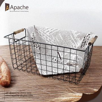 Metal Storage Bread Basket for Store