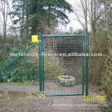 Puerta de la cerca del jardín del acero inoxidable