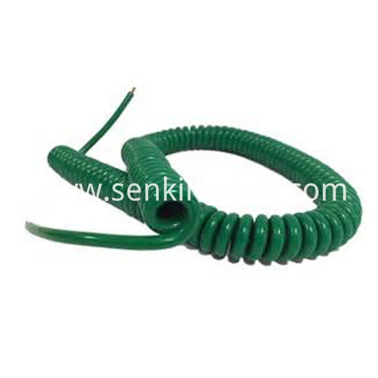 Multicolour PUR TPU Spiral Coiled Cable