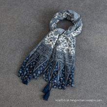 Nova moda impresso borla lenço longo / pashmina