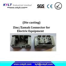 Conector Zamak de zinco para equipamentos elétricos