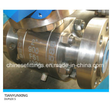 S31803 Saf2205 F51 Duplex Stainless Steel Forged Ball Valve