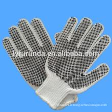 Gants en coton blanc à la main en PVC / gants de travail / gants de sécurité