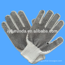 PVC Dotted White Hand Cotton Gloves/ working gloves/ safety gloves