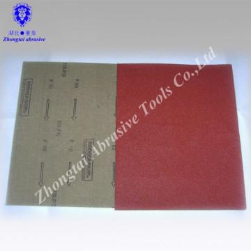 """Latexpapier Aluminiumoxid rote Farbe wasserdichtes Sandpapier 9 """"* 11"""" P80"""