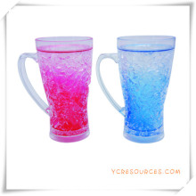 Double tasse givrée de mur tasse de bière de glace congelée pour des cadeaux promotionnels (HA09070-1)