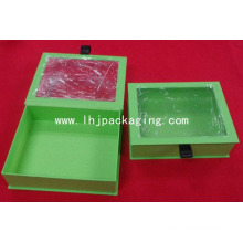 Custom Book Shape Paper Packaging Box with PVC Window