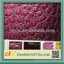 Latest Fashion Metallic Emboss PVC Leathers for Bag Decorative