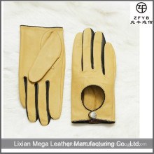 Women's driving leather gloves with lamb leather