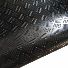 Black Fine Ribbed Patterned Garage Rubber Flooring Mats in Rolls Rubber Floor