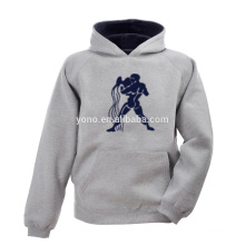 O hoodie branco do pulôver da cor branca para pares aquece-se no outono e no inverno