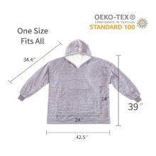 Übergroße Sherpa Hoodie Sweatshirt Decken