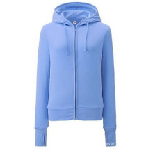 2016 Fashion Zip up Lady Fleece Sport Hoody