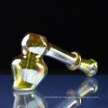 Venda Por Atacado Tubo de vidro Bubbler mão para fumar com Bubbler (ES-HP-084)