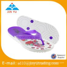 2016 China factory price kid size PVC outsole slipper Flip Flop sandal zapatilla