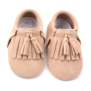 Handgjorda Soft Sole Suede Leather Babyskor