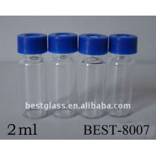 Bouteille chromatographique de vis claire de 2ml, bouteille chromatographique de vis claire