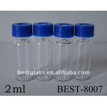 Garrafa transparente do parafuso de 2ml, frasco cromatográfico do parafuso claro