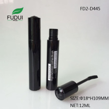 12ML Pure Black Plastic Mascara Container Silk Screen