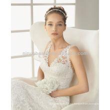 Sexy V-cuello Backless sirena vestidos de novia 2014 vestidos de novia de encaje NB006