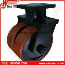 16 Inch Overweight Duty Caster with Dual Good PU Wheel