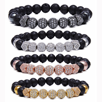8mm Essential Oil Beads Bracelet Lava Rock Stone Bracelet Perfume Diffuser Bracelet for Men Women