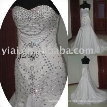 2011 la última gota elegante envío libre estilo libre del meimaid rebordeó el sweethart brillante rebordeó el vestido de boda de la sirena 2011 JJ2436
