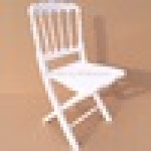 White Wood Folding Napoleon Chairs for wedding and banquet