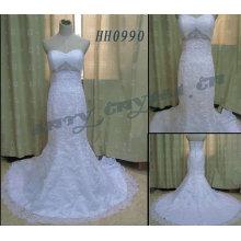 2011 Vestido nupcial de la sirena verdadera de encargo elegante de la manera HH0990