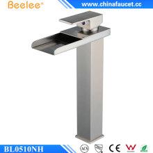 Beelee - Grifo de lavabo para lavabo, una manija, una manija, níquel cepillado