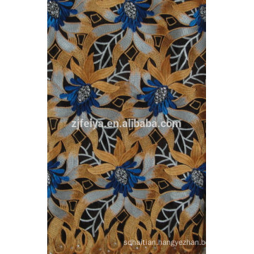 2015 New Fashion African Hand Cut Lace Fabric