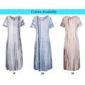 Kate Kasin Casual Casual cómodo de manga corta de cuello en V Tie Dye Maxi vestido KK000701-1
