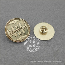 Pin de solapa redondo plateado, placa de organización (GZHY-LP-016)